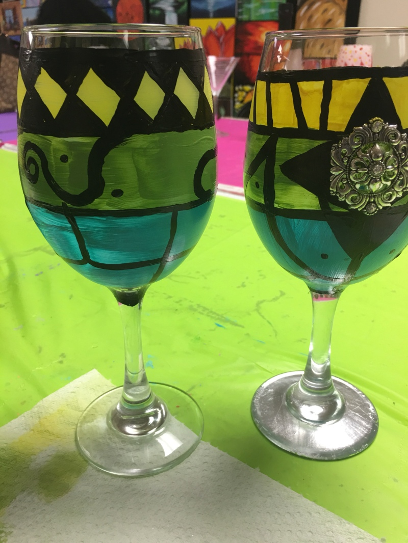 DYI, Crafts, Glasses, Painting