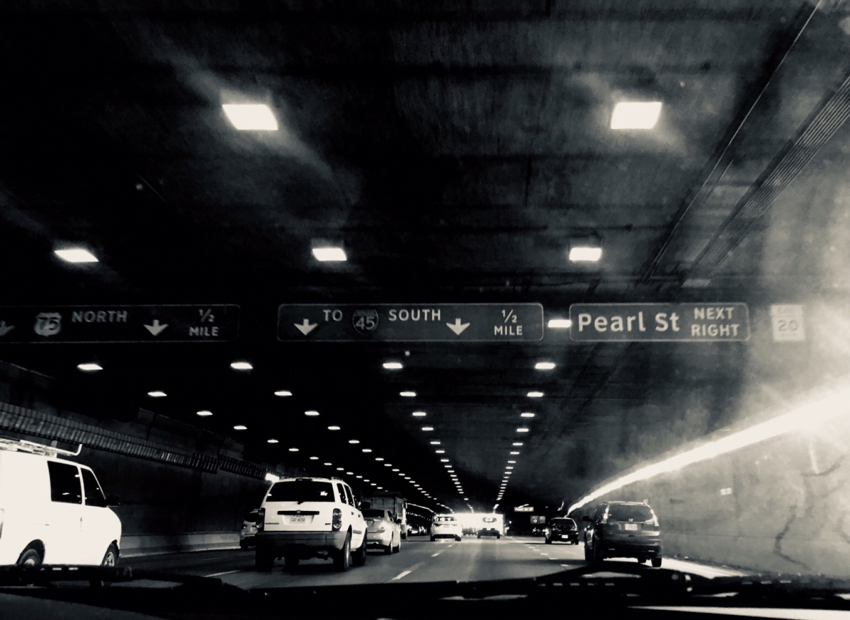 Photography, monochromatic, tunnel