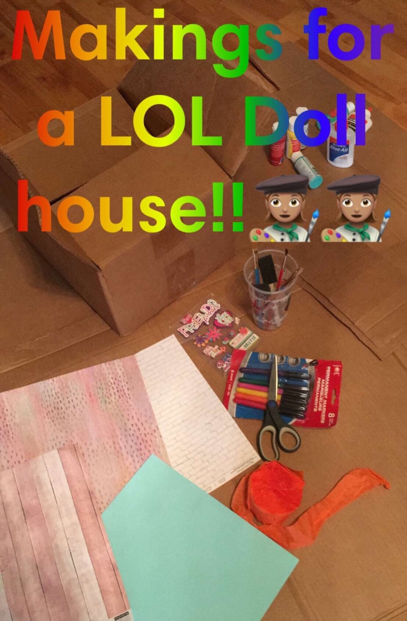 Kids crafts, LOL dolls, dollhouse